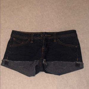 Size 1/25 Volcom dark wash shorts